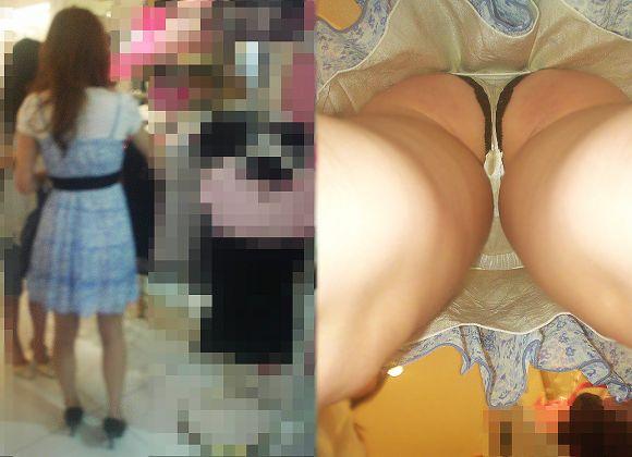 【逆さ撮りエロ画像】え!?マジ!?女の子のスカートの中身を直下から狙ってみた結果www 09