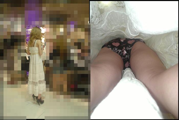 【逆さ撮りエロ画像】え!?マジ!?女の子のスカートの中身を直下から狙ってみた結果www 25