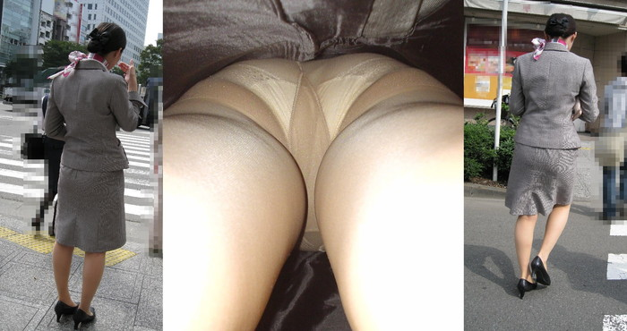 【パンチラ逆さ撮りエロ画像】女の子のスカートの中身を直下から狙い撃ち! 11