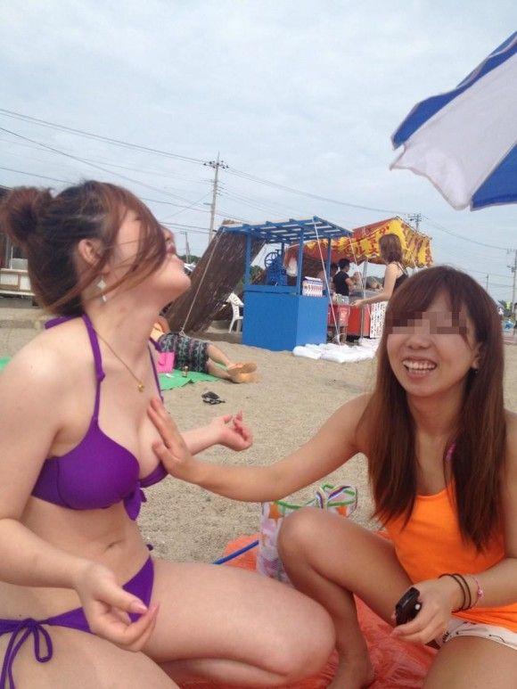 【素人水着エロ画像】素人たちの水着姿ってむ生々しくて興奮するだろ? 25