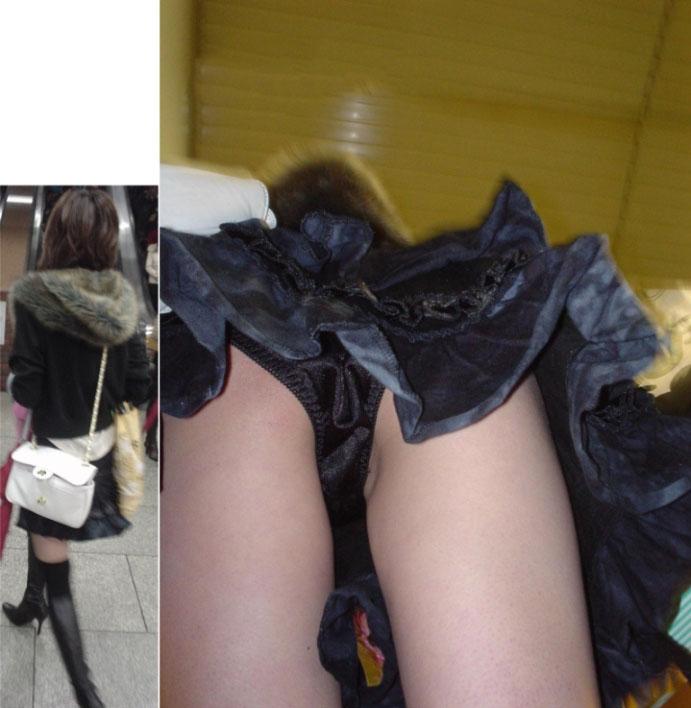 【逆さ撮りエロ画像】強引に女の子のスカートの中身を狙った結果がエロ杉!ww 08