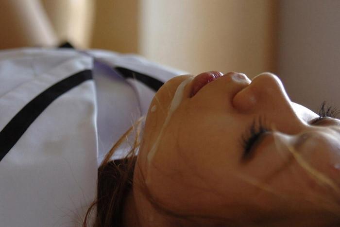 【顔射エロ画像】精液にまみれた女の子の表情が勃起不可避の破壊力! 09