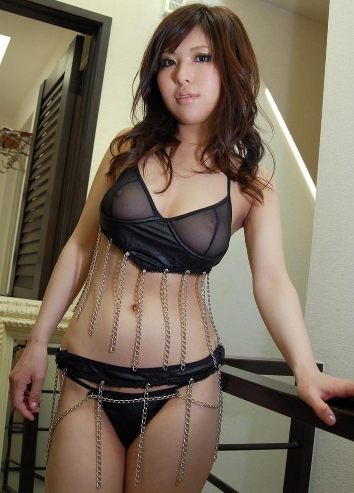 【シースルー下着エロ画像】まるで全裸!?スケスケのシースルー下着の女の子! 09