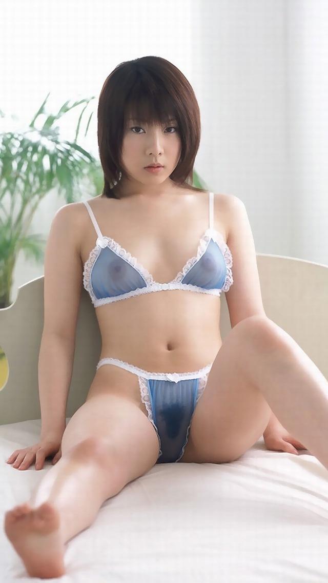 【シースルー下着エロ画像】まるで全裸!?スケスケのシースルー下着の女の子! 23