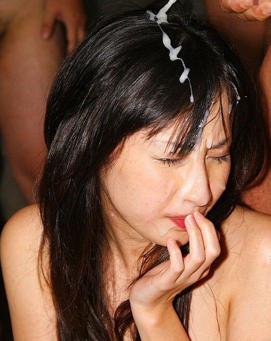 【顔射エロ画像】可愛い女の子の顔がザーメンでドロドロ…顔射好き必見! 07