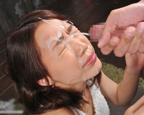【顔射エロ画像】可愛い女の子の顔がザーメンでドロドロ…顔射好き必見! 11