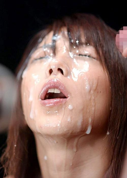 【顔射エロ画像】可愛い女の子の顔がザーメンでドロドロ…顔射好き必見! 13