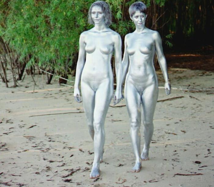 【ボディーペイントエロ画像】全裸より厭らしいボディーペイントが過激で草w 27