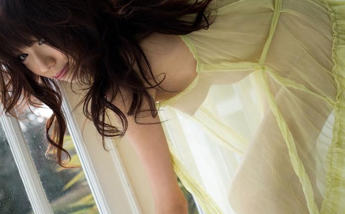 【シースルーエロ画像】スッケスケの着衣が破廉恥すぎるシースルー特集 12