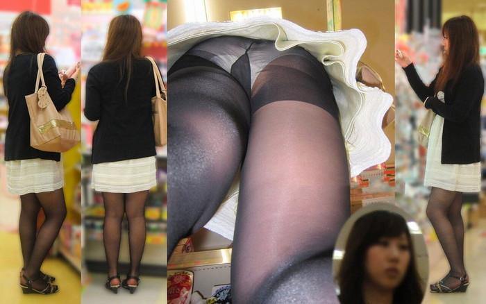【逆さ撮りエロ画像】パンチラ不可避な角度から女の子のスカートの中身狙った結果! 07