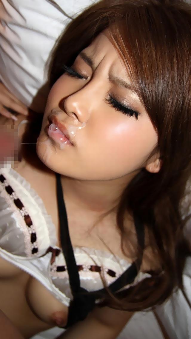【顔射エロ画像】女の子の顔面を精子で汚す顔射という行為の画像集めたったw 09