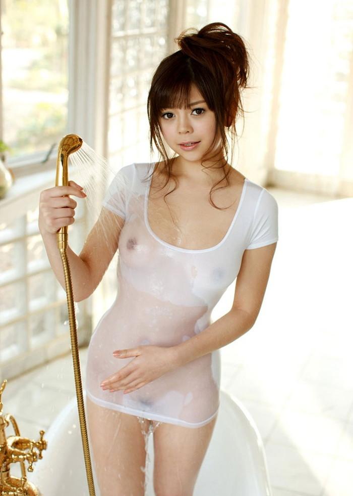 【濡れ透けエロ画像】おまいら!濡れて透けた着衣はこんなにエロいぞ!?www 06