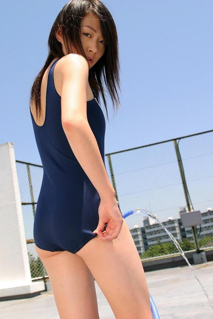 【スク水エロ画像】マニアックだけどなぜか抜けるスク水の女の子!www 09
