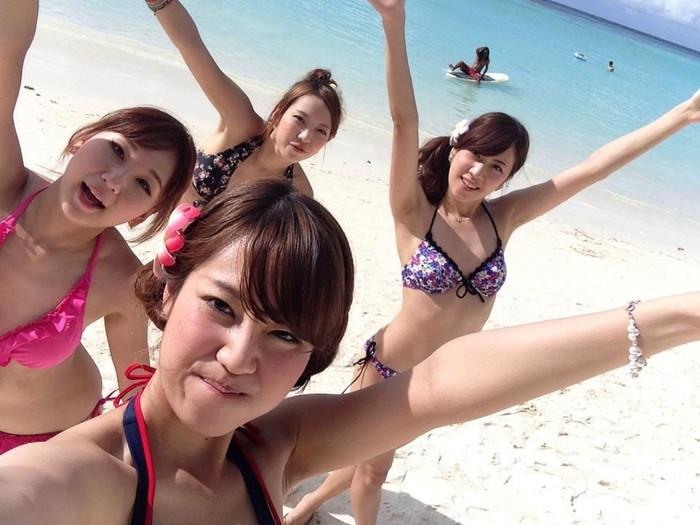 【素人水着エロ画像】素人娘たちの生々しい水着姿に勃起不可避!www 13