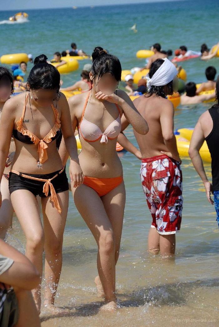 【素人水着エロ画像】素人娘たちの生々しい水着姿に勃起不可避!www 22