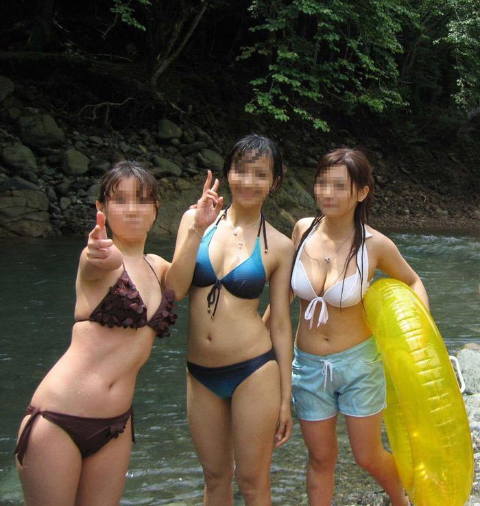 【素人水着エロ画像】素人娘たちの生々しい水着姿に勃起不可避!www 23