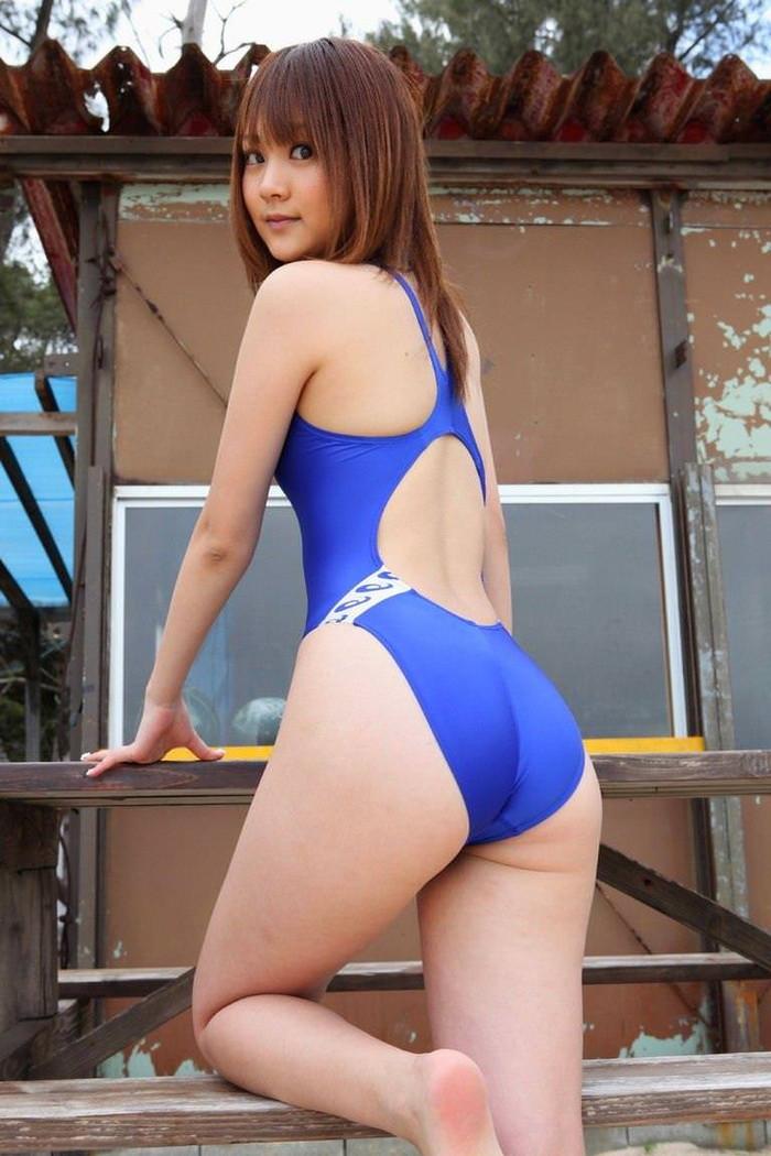 【競泳水着エロ画像】夏近し!競泳水着の女の子たちのエロい着こなし方www 03