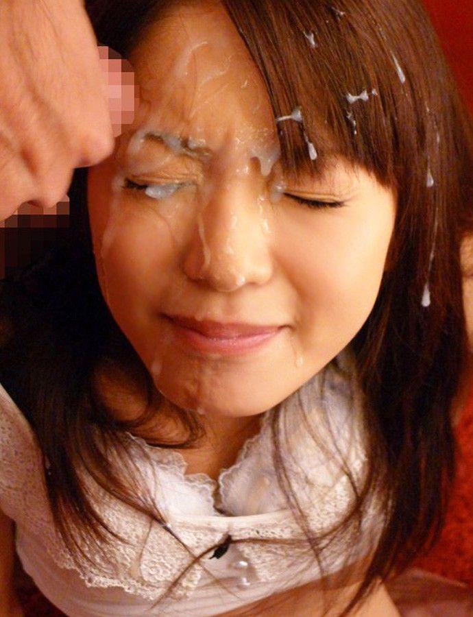 【顔射エロ画像】顔中ザーメンまみれの顔射された女の子たちのエロ画像 14