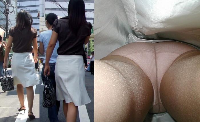 【逆さ撮りエロ画像】この角度、卑猥すぎる!こんな角度からパンチラ狙われた女!