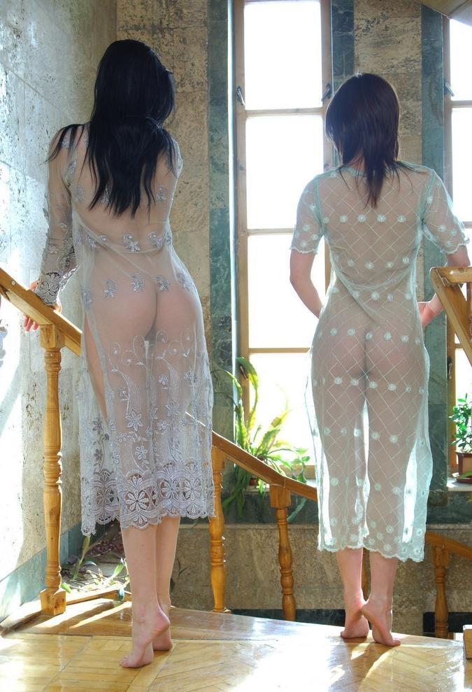 【シースルーエロ画像】シースルの着衣!これじゃ全裸でも変わらんと思うんだがw 10