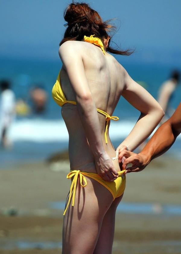 【素人水着エロ画像】まもなく夏本番!?待ち遠しすぎる素人娘たちの水着姿! 26