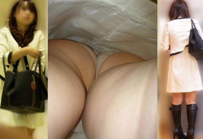 【逆さ撮りエロ画像】スカートの中を直下から狙ってパンチラゲット!www