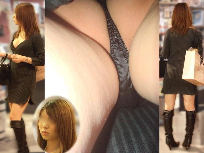 【逆さ撮りエロ画像】スカートの中を直下から狙ってパンチラゲット!www 08