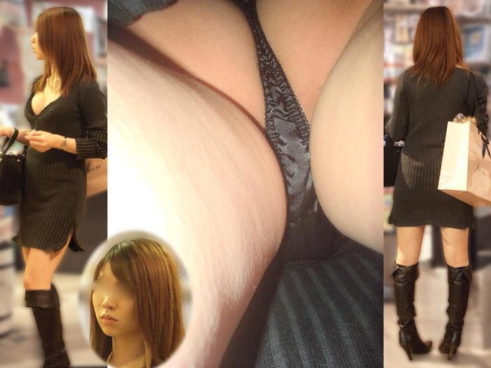 【逆さ撮りエロ画像】スカートの中を直下から狙ってパンチラゲット!www 11