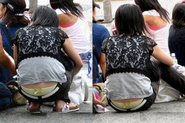 【ローライズエロ画像】ローライズファッション!パンツ見えすぎて草!これって見せパン? 05