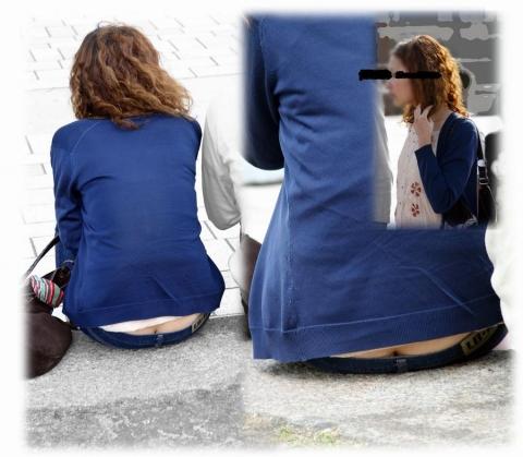 【ローライズエロ画像】ローライズファッション!パンツ見えすぎて草!これって見せパン? 10