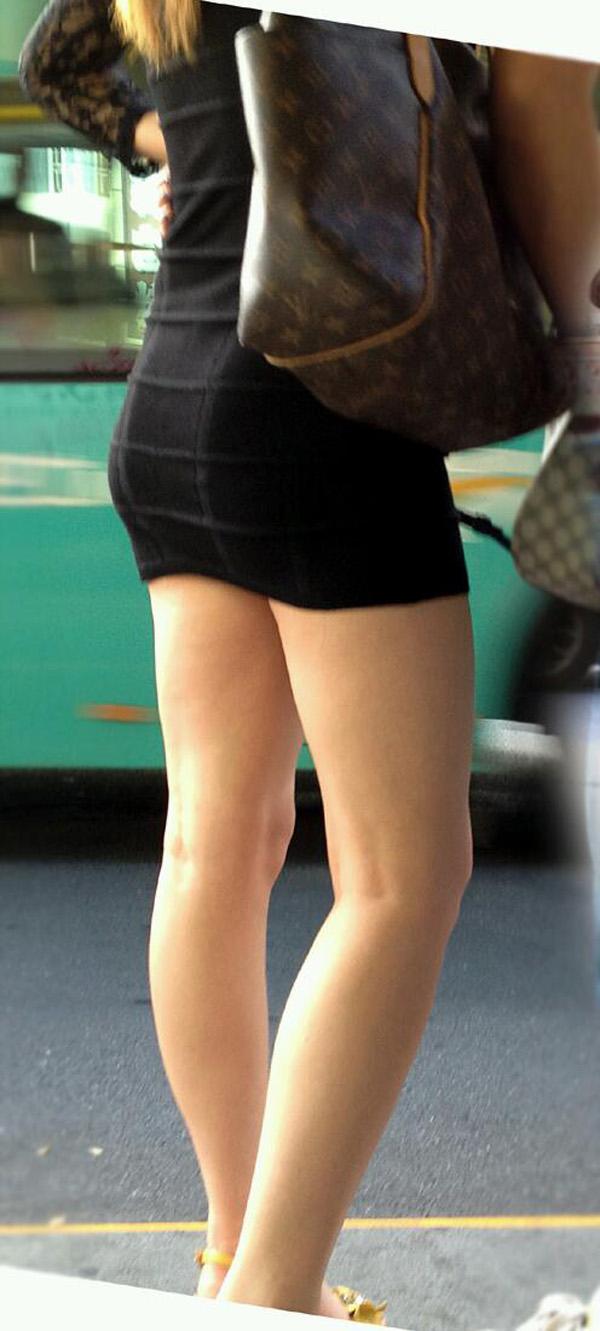 【美脚エロ画像】街中で見かけた美脚の女の子をフォーカスしてみた結果w 08