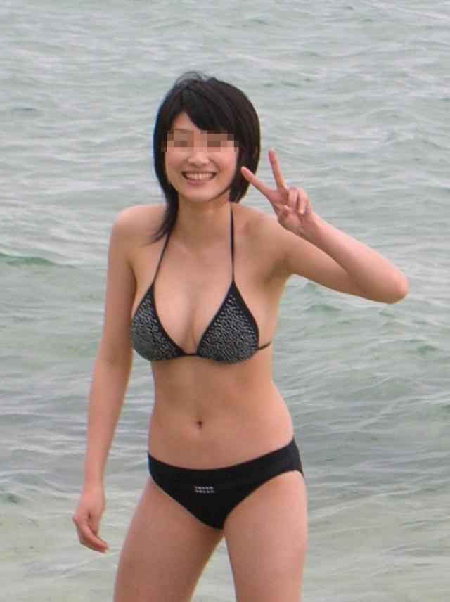 【素人水着エロ画像】素人娘たちの生々しい水着姿にフル勃起確定のエロ画像! 14