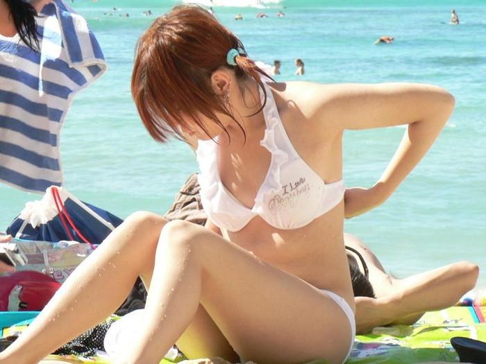 【素人水着エロ画像】素人娘たちの生々しい水着姿にフル勃起確定のエロ画像! 17