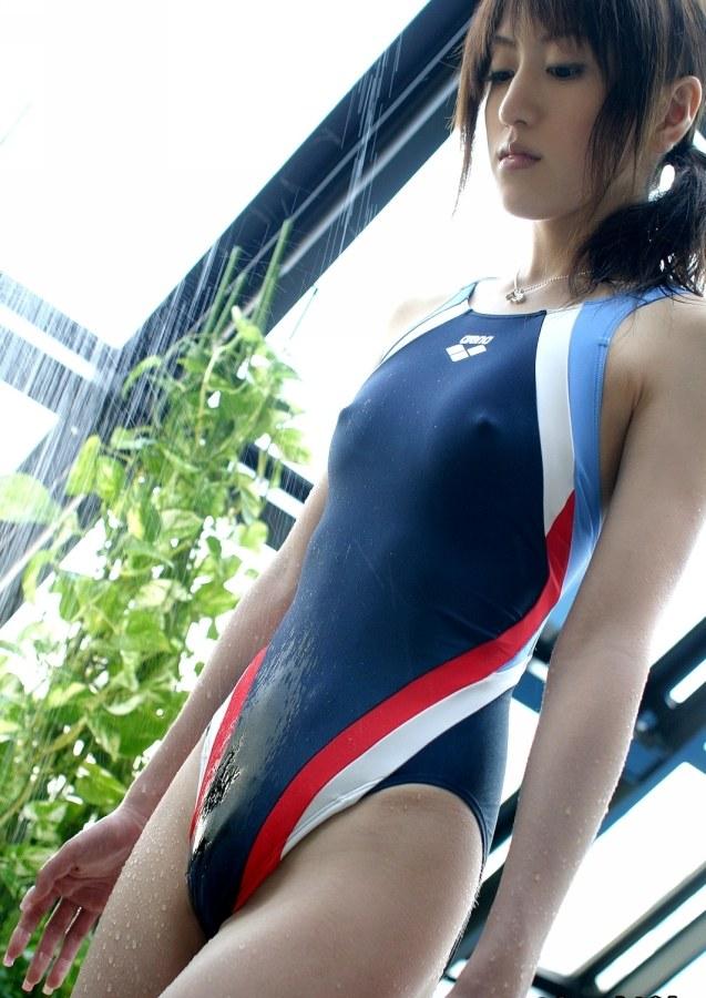 【競泳水着エロ画像】競泳水着ってヘタなビキニより実はエロいんじゃね?w 18