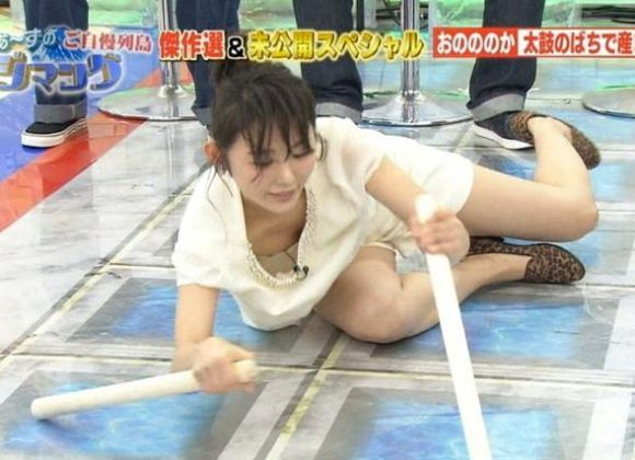 TVで流れた放送事故ハプニングのエロ画像