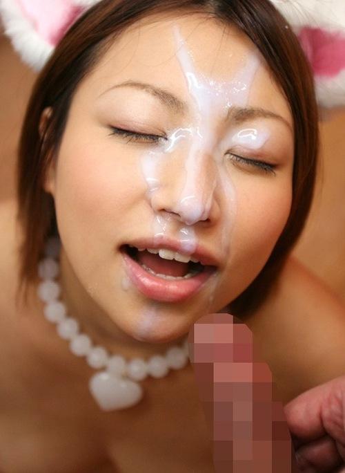 【顔射エロ画像】顔射の餌食になった女の子たちのザーメンまみれの顔が草ww 02
