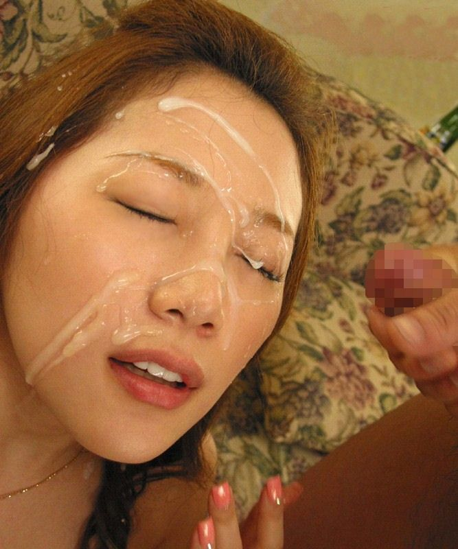 【顔射エロ画像】顔面がザーメンまみれ!卑猥すぎる顔射のエロ画像集めたった! 20