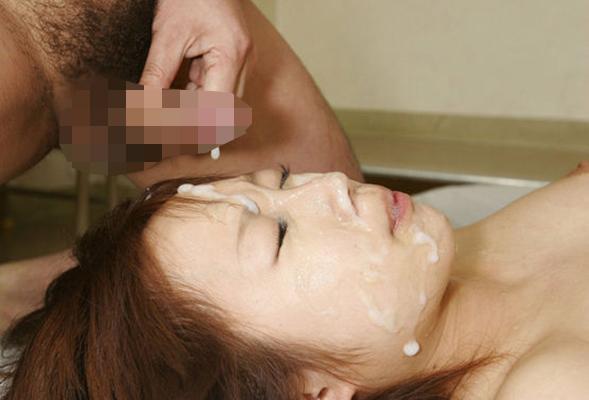 【顔射エロ画像】顔面ザーメンまみれの顔射の餌食にされた女の子たちwww