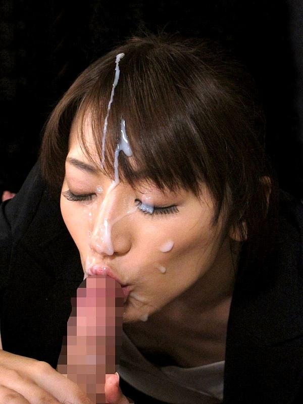 【顔射エロ画像】顔面ザーメンまみれの顔射の餌食にされた女の子たちwww 13