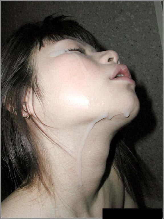 【顔射エロ画像】顔面ザーメンまみれの顔射の餌食にされた女の子たちwww 26