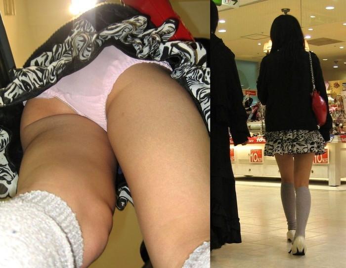 【パンチラ逆さ撮りエロ画像】真下から女の子の股間を狙ってみた結果がこちら! 03