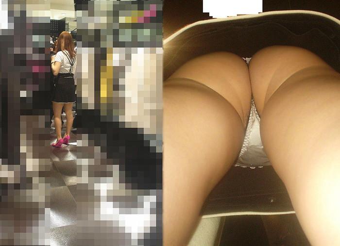 【パンチラ逆さ撮りエロ画像】真下から女の子の股間を狙ってみた結果がこちら! 09
