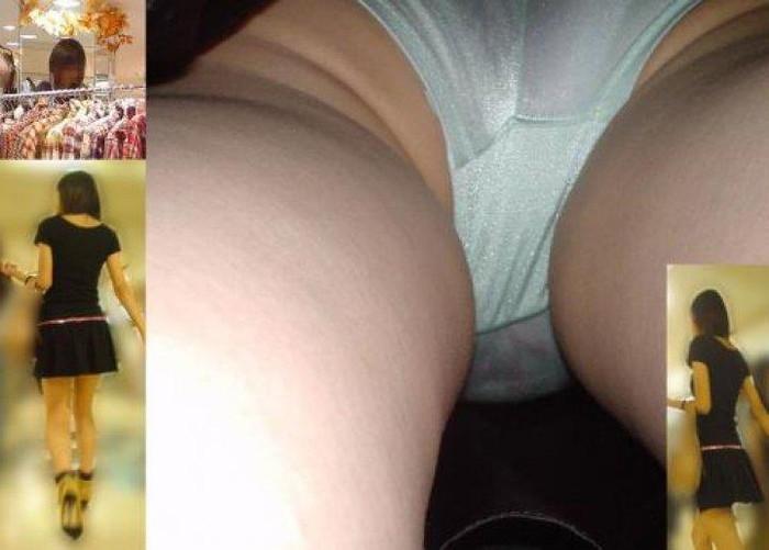 【パンチラ逆さ撮りエロ画像】真下から女の子の股間を狙ってみた結果がこちら! 16