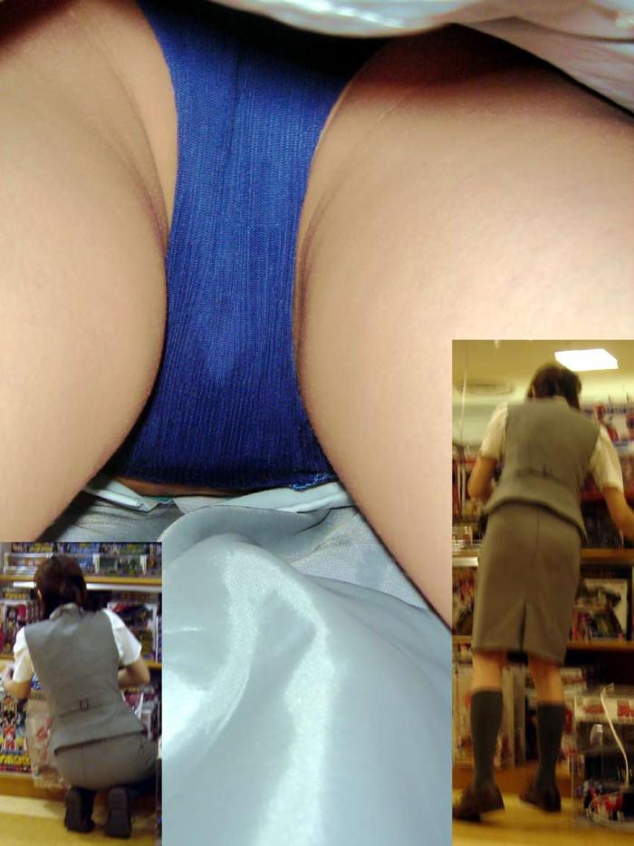 【パンチラ逆さ撮りエロ画像】真下から女の子の股間を狙ってみた結果がこちら! 23