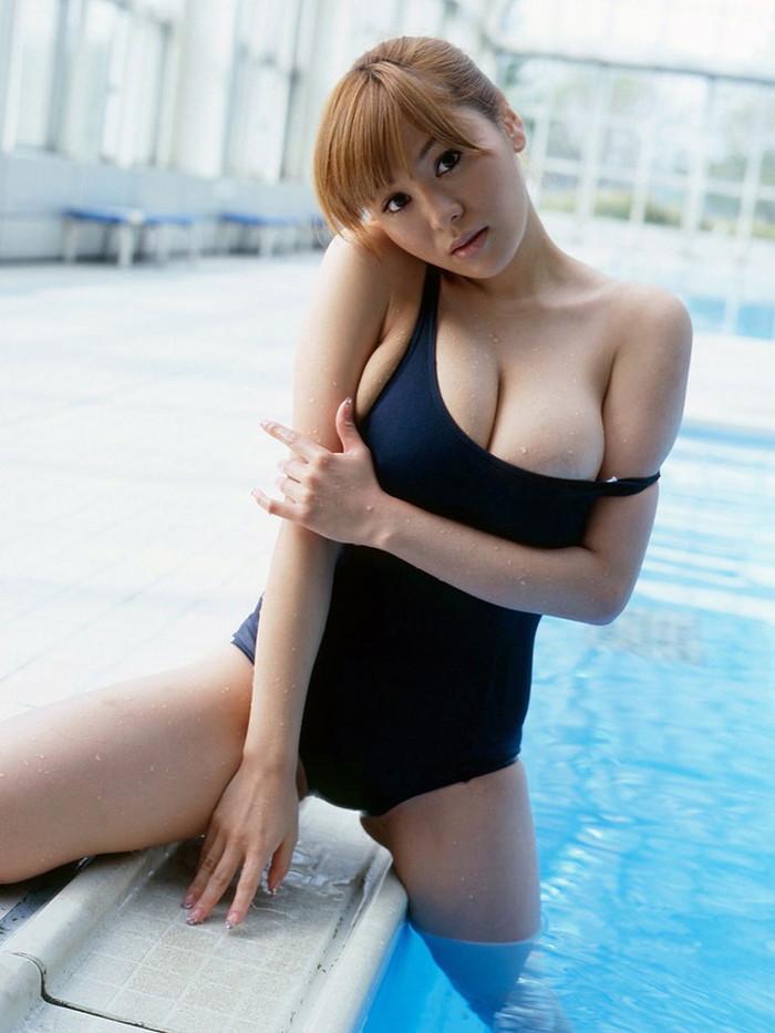 【スク水エロ画像】学生時代の水泳の授業を思い出してハァハァするエロ画像w 06
