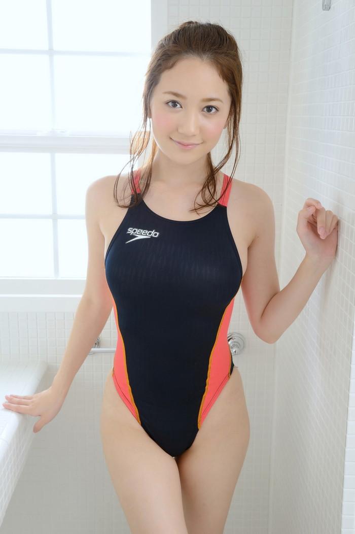 【競泳水着エロ画像】こんな競泳用の水着!ヘタなビキニよりもエロいと思うんだが!? 24