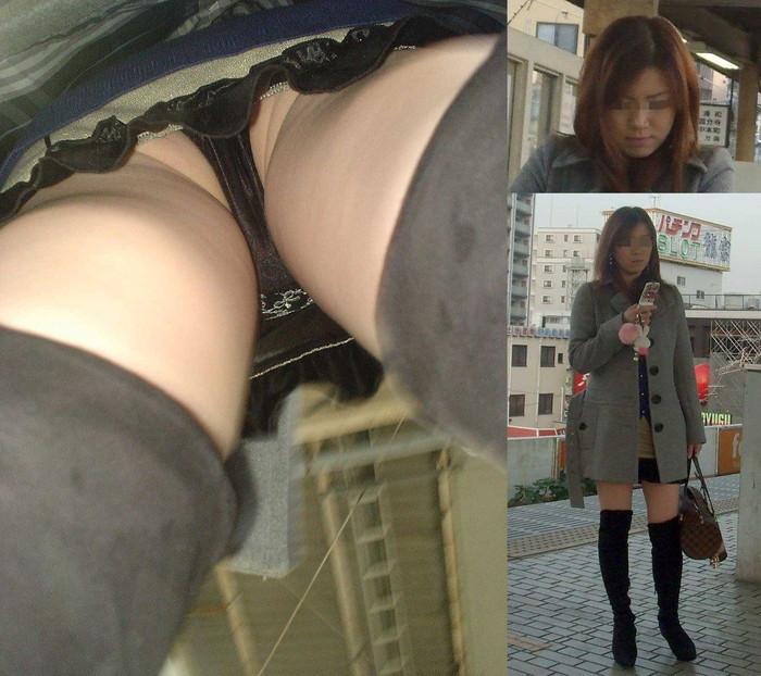 【逆さ撮りエロ画像】女の子のスカートの中身を直下から狙ってみた結果www 09