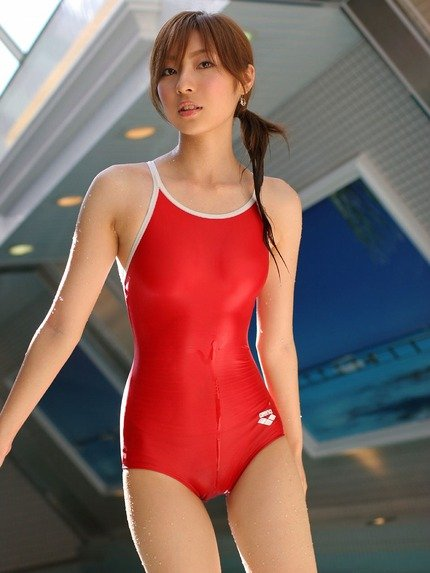 【競泳水着エロ画像】ヘタなビキニよりもエロくて草w競泳水着の女の子! 02
