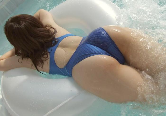 【競泳水着エロ画像】ヘタなビキニよりもエロくて草w競泳水着の女の子! 12