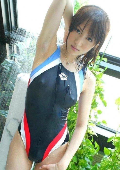 【競泳水着エロ画像】ヘタなビキニよりもエロくて草w競泳水着の女の子! 14